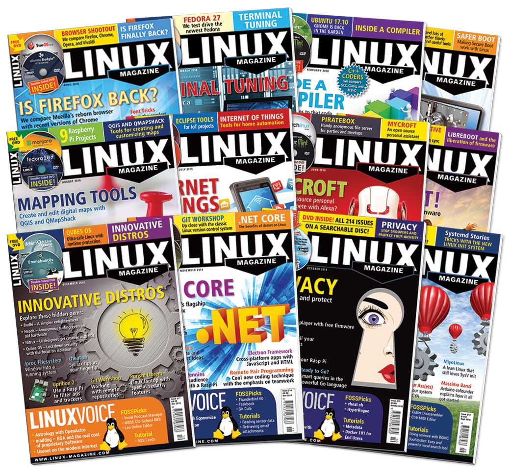 Linux Magazine 2018 - Digital Issues Archive