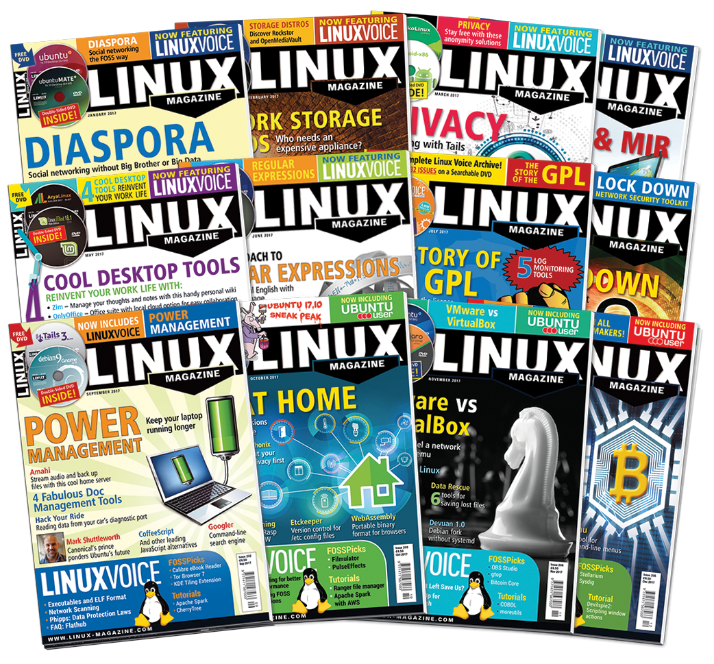 Linux Magazine 2017 - Digital Issues Archive