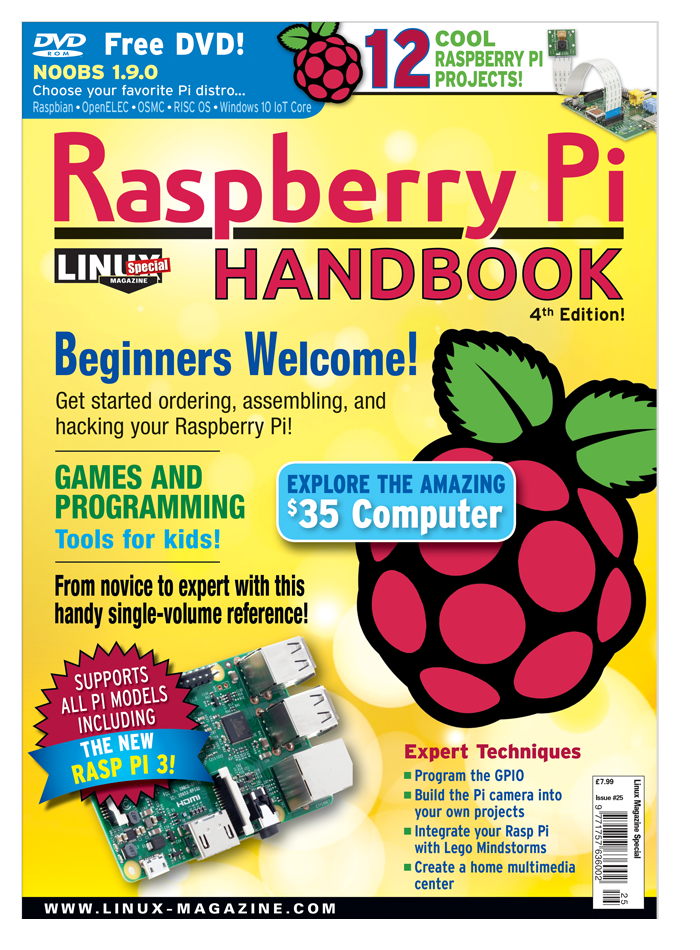 Raspberry Pi Handbook Special Edition #25 - Print Issue