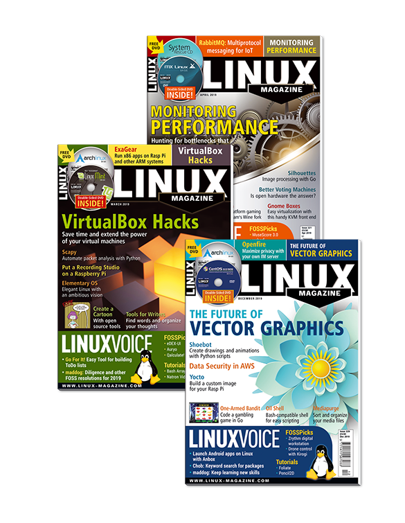 Linux Magazine 2019 - Digital Issues Archive